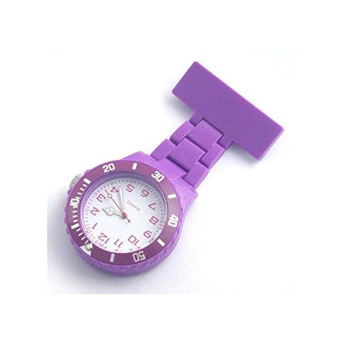 Zeigt Krankenschwester PVC violett Brosche 57