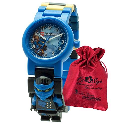 LEGO Ninajago Jay Transportsaeckchen Kunststoff Armband Quarzuhr Kinderuhr ULE8020530