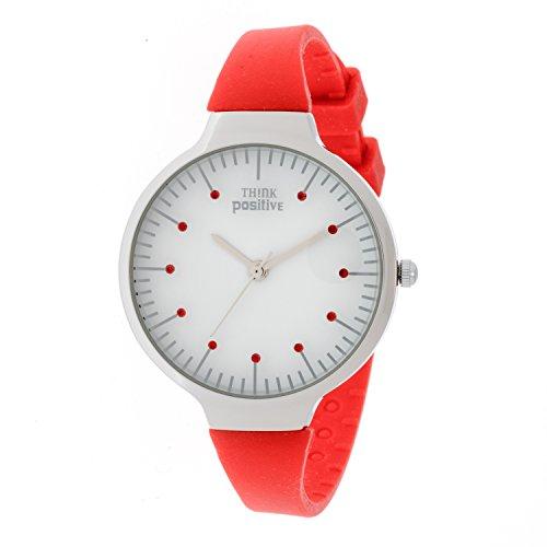 Ladies THINK POSITIVE Modell SE W69 Medium Stahlband aus Silikon Farbe Rot