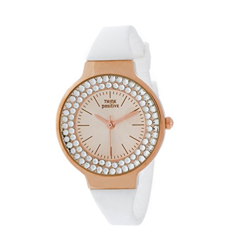 Ladies THINK POSITIVE Modell SE W262 Rose Stahlband aus Silikon Farbe Weiss