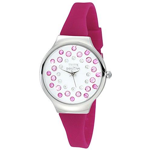 THINK positive Stardust Analog Fashion Silikon Armband pink Quarz Uhr UTP1054P