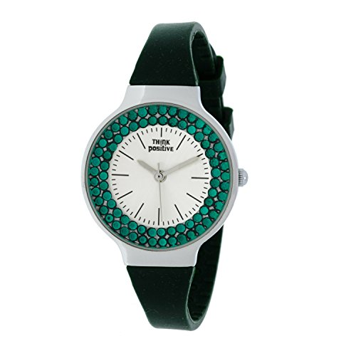 Ladies THINK POSITIVE Modell SE W262 Stahl Stahlband aus Silikon Farbe Militaer gruen