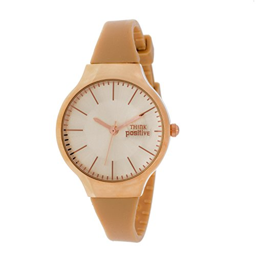 Ladies THINK POSITIVE Modell SE W31 Rose Classic Stahlband aus Silikon Farbe Beige