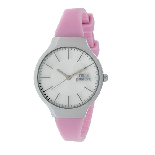 Ladies THINK POSITIVE Modell SE W31 Classic Stahlband aus Silikon Farbe Rosa