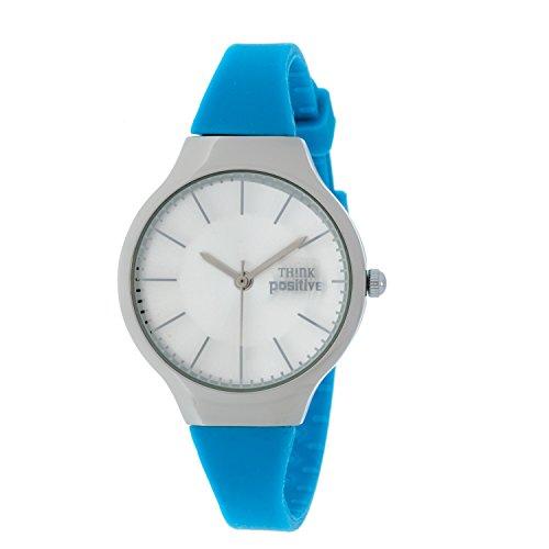 Ladies THINK POSITIVE Modell SE W31 Classic Stahlband aus Silikon Farbe Blau
