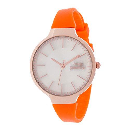 Ladies THINK POSITIVE Modell SE W34 Medium Rose Stahlband aus Silikon Farbe Orange