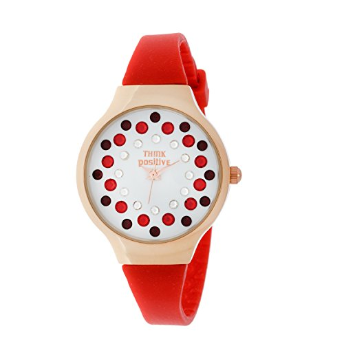 Ladies THINK POSITIVE Modell SE W89 Small Rose Stahlband aus Silikon Farbe Rot