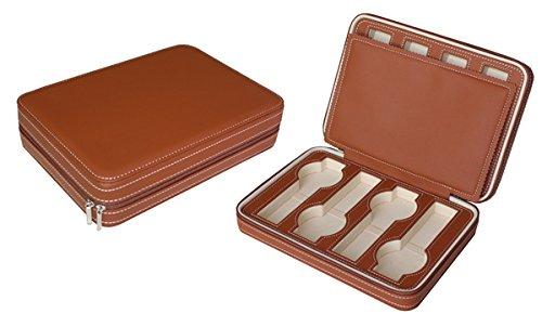 Hochwertige Leder Uhrenbox Woolux Reisebox fuer 8 Uhren