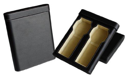 Hochwertige Uhrenbox Woolux Reisebox fuer 2 Uhren Leder