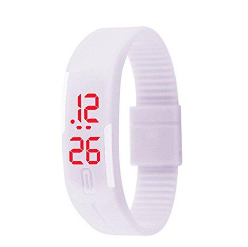 Unisex Kinder Gummi LED Datum Sport Digital Armbanduhr