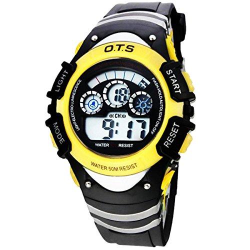 LED Uhr Multifunktionsuhr Digital Uhr Gelb