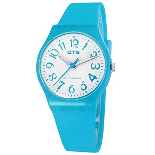 Fasnion Armbanduhr Analog Quarzuhr Casual Uhr Gummiarmband Blau