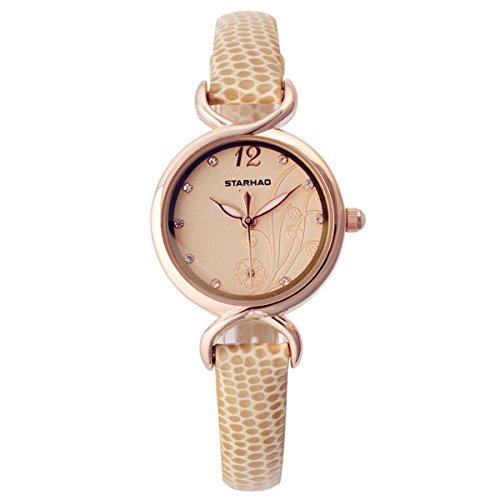 Frauen Armbanduhr Maedchen Armbanduhr Quarzuhr Fashion Uhr Khaki