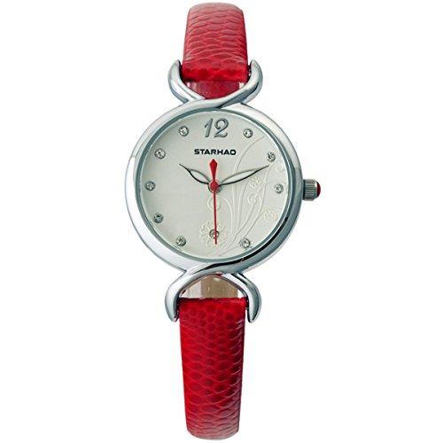 Frauen Armbanduhr Maedchen Armbanduhr Quarzuhr Fashion Uhr Rot