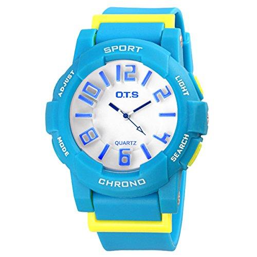 Jungen Armbanduhr Maedchen Armbanduhr Leuchtende Uhr Analog Quarz Uhr Casual Uhr Blau