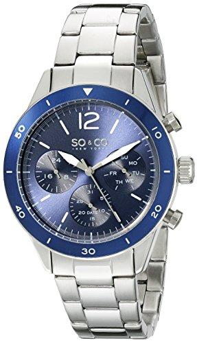 So Co New York Herren 5032 2 Yacht Timer Quarz Multifunktions Edelstahl Link Armband Armbanduhr
