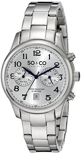 So Co New York Monticello Herren mit Silber Zifferblatt Analog Anzeige und Silber Edelstahl Armband 5031 1000000000004