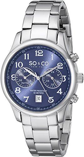 So Co New York Monticello mit Blau Zifferblatt Analog Anzeige und Silber Edelstahl Armband 5031 3