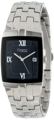 Caravelle by Bulova Herren 43B43 Bracelet Black Dial Uhr