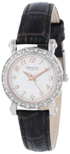 Caravelle by Bulova Damen 43L126 Volle 44 Kristall-Luenette Uhr