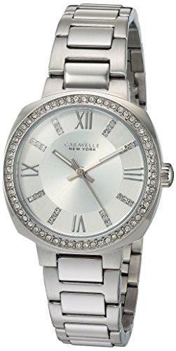 Caravelle 43l195 Damen Kristall Edelstahl Silber Armband Band Silber Zifferblatt Smart Watch