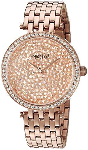 Caravelle 44l222 Damen Edelstahl Gold Armband Band Gold Zifferblatt Smart Watch