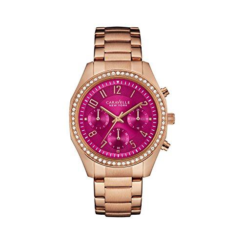 Caravelle 44l223 Damen Edelstahl Rose Gold Armband Band Lila Zifferblatt Smart Watch
