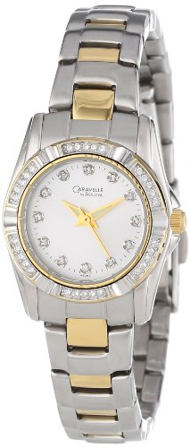 Caravelle by Bulova Damen 45L83 Kristall mit Akzenten Silber Zifferblatt