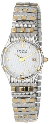 Caravelle by Bulova Damen 45M03 Expansion Armband Weiss Zifferblatt