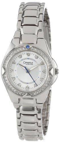 Caravelle by Bulova Damen 43L121 Kristall Armbanduhr Silver Dial
