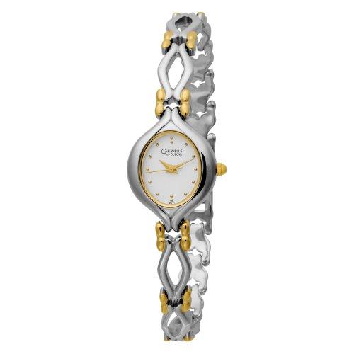 Caravelle by Bulova Damen 45L71 Armband Weiss Zifferblatt