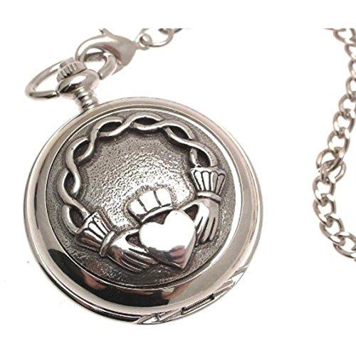 Gravur enthalten Taschenuhr massiv Zinn am Mechanische Skelett Taschenuhr Claddagh Design 61