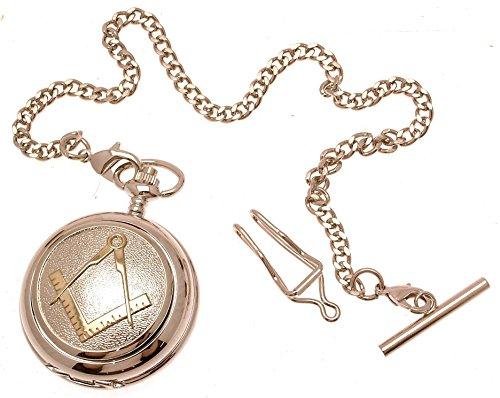 Gravur enthalten Taschenuhr massiv Zinn am Mechanische Skelett Taschenuhr Zwei Ton Freimaurer Design 38