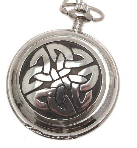Gravur inklusive Keltische Knoten Taschenuhr Zinn am Quarz Mechanismus Design 68