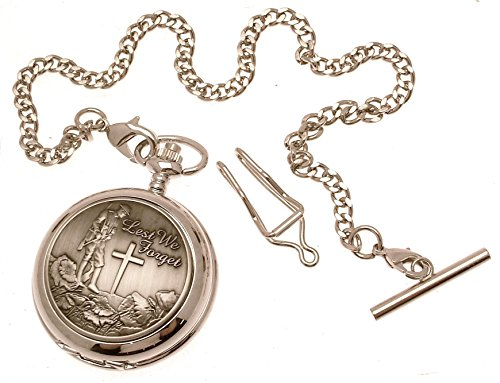 Taschenuhr 62 mit Abdeckung aus massivem Zinn sichtbares Uhrwerk mit der englischen Aufschrift Lest We Forget