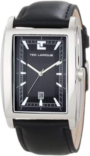 5118302 Ted Lapidus Herren-Armbanduhr Analog Leder Schwarz