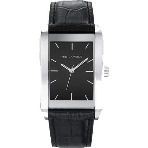 Ted Lapidus Herren-Armbanduhr Analog Leder schwarz 5119301