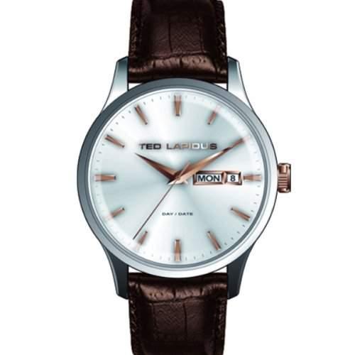 Ted Lapidus Herren-Armbanduhr Analog Quarz Leder 5124204
