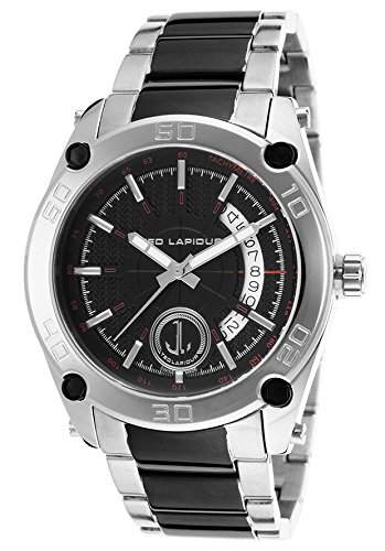 Ted Lapidus Herren 44mm Edelstahl Gehaeuse Mineral Glas Uhr 5124801SM