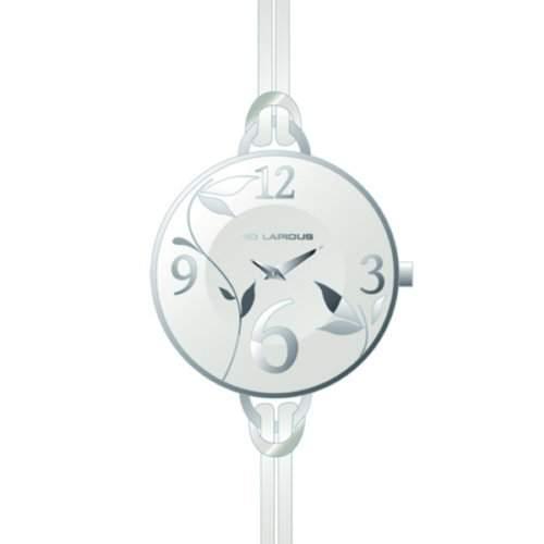 A0524RAAF Ted Lapidus Damen-Armbanduhr Anastasie Quarz analog Leder Weiss