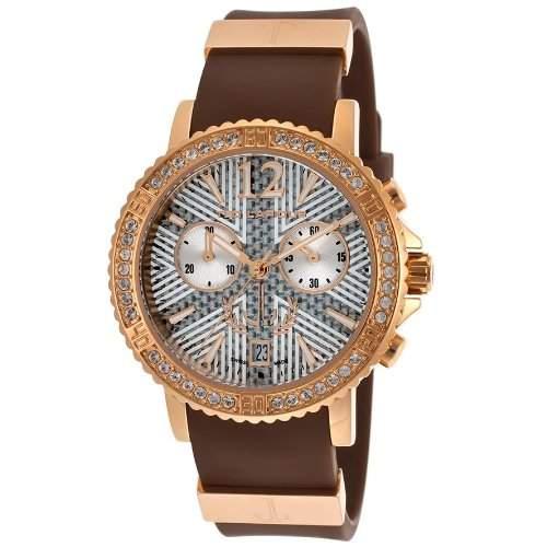 Ted Lapidus Damen 38mm Chronograph Braun Kautschuk Armband Datum Uhr A0531UAIMSM