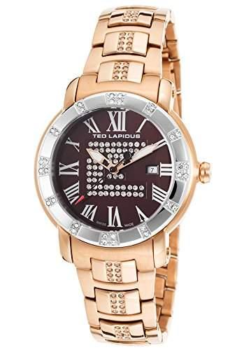 Ted Lapidus Damen 36mm Rotgold Edelstahl Armband & Gehaeuse Uhr A0532UMRXSM