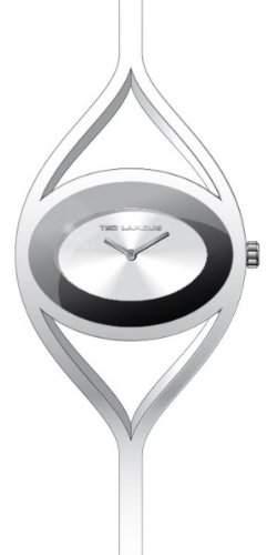Ted Lapidus Damen-Armbanduhr Analog Silber B0212RBNX