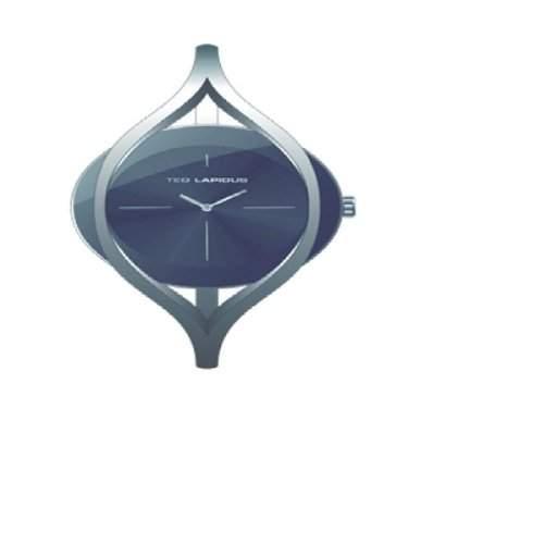 B0219RNIX Ted Lapidus Damen-Armbanduhr Alyce Quarz analog, Zifferblatt schwarz, grau