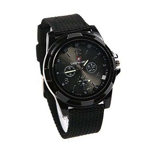 psfy Cool Summer schwarz Farbe Militaer Armee Pilot Stoff Strap Sports Herren s Swiss Military Armbanduhr