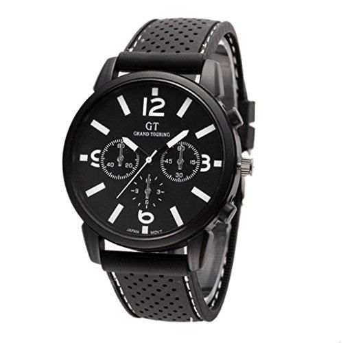 GT GT Sport Armbanduhr Silikon Armband Armbanduhr Quarz Uhr weiss