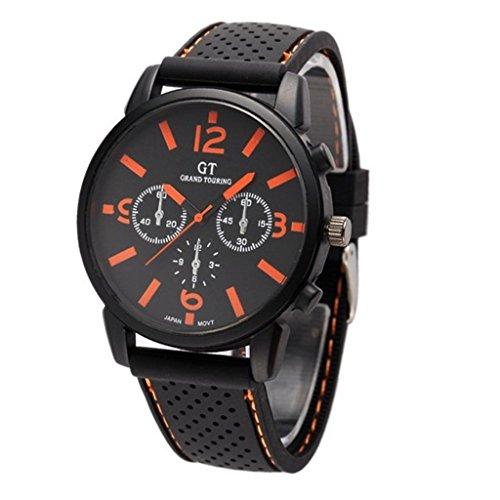 GT GT Sport Silikon Armband Armbanduhr Quarz Uhren orange