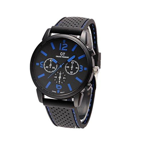 GT GT Sport Silikon Armband Armbanduhr Quarz Uhren blau