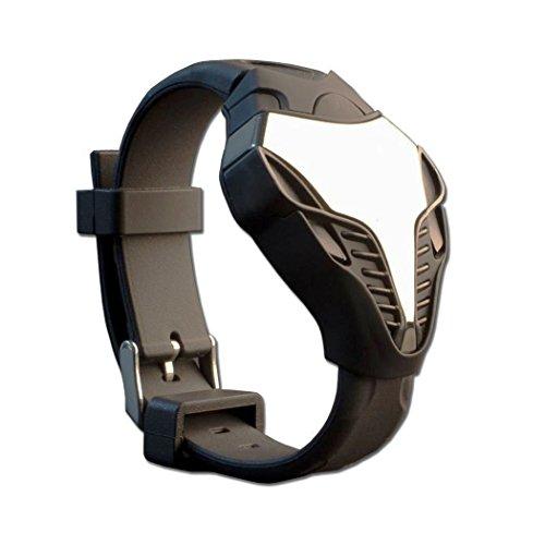TOPCABIN Digital LED Armbanduhr fuer Jugendliche mit Kobra Design Silikon rotes Digital Display Schwarz