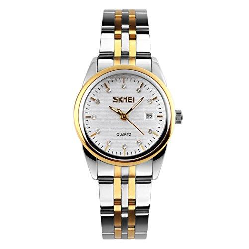 topcabin Damen Edelstahl Band Wasserdicht Armbanduhr Herren Schlichtes Design Classic Fashion Luxus Business Casual Kleid Uhren Analog Remasuri